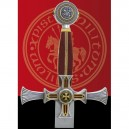 Damascene Templar Knight Sword by Marto - Handle detail