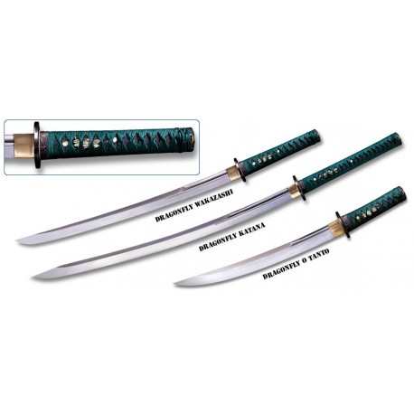 cold steel dragonfly samurai sword set. Black Bedroom Furniture Sets. Home Design Ideas