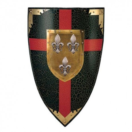 Duchy of Anjou Colored Shield of the Fluer de Lys