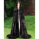 Fantasy Cloak Black-Fantasy costume