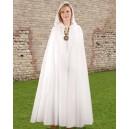 Fantasy Hooded Cloak White-Fantasy costume