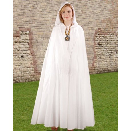 Fantasy Hooded Cloak White-Fantasy costume