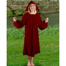 Medieval Chemise Colored Red-Medieval clothing