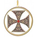 Knights Templar Cross Pendant