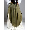 Medieval Skirt with Apron-Medieval clothing