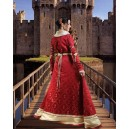 Royal Medieval Fleur-De-Lis Gown-Medieval Dresses