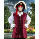 John Nutt Pirate Vest-Pirate costume