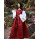 Medieval Fleur de Lis Dress Red C1092