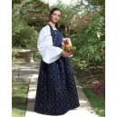 Medieval Fleur de Lis Dress Blue