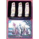 Set of 3 Confederate General Collector Pocket Knives