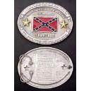Civil War Confederate History Belt Buckle