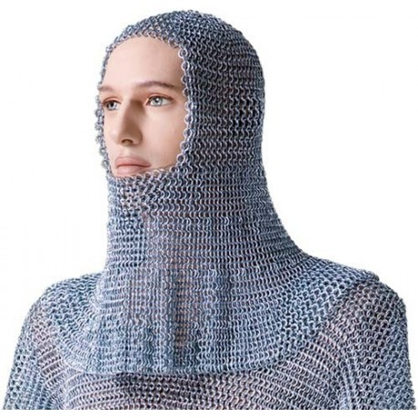 Steel Chain Mail Coif (Hood)