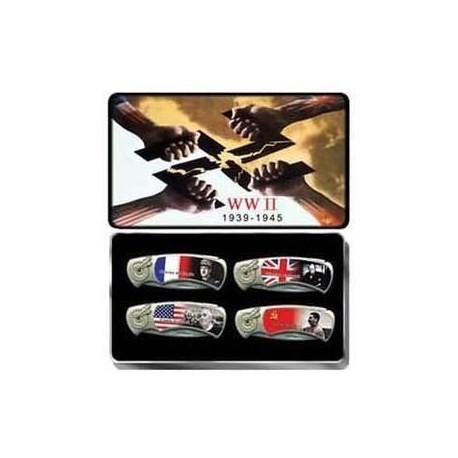 World War II 4 Piece Collector Knife Set
