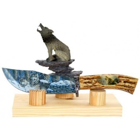 Wolf Collector Stag Hunting Knife