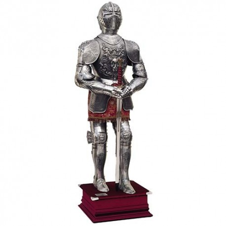 Carlos V Suit of Armor with Bas Relief