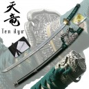 Ten Ryu Damascus Steel Tachi Green
