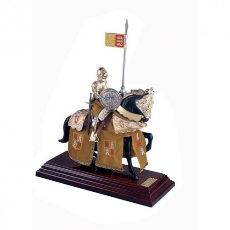 Mounted English Knight of King Arthur in Suit of Armor