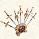Display Stand for Miniature Damascene Sword Letter Openers