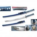 Musashi Damascus Katana Blue SS242BL