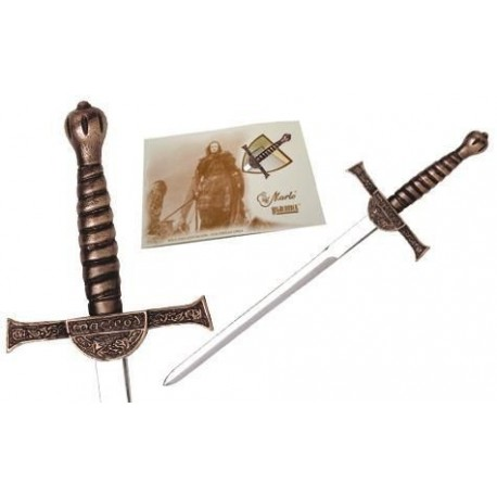 Miniature Connor MacLeod Highlander Sword Bronze