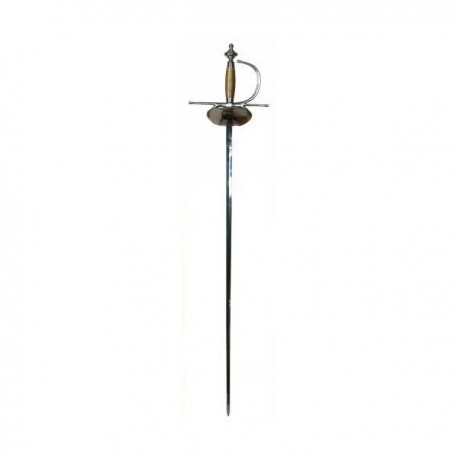 Functional Clam Shell Rapier Battle Ready Sword