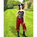 Pirate Pants of Rachel Wall-Red and black