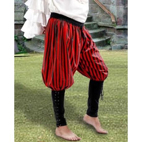Buccaneer Pants-Black red