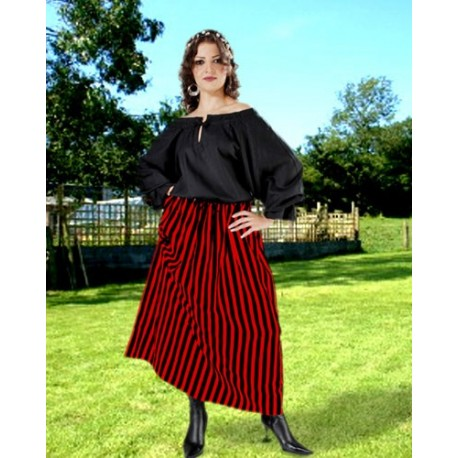 Striped Wench Pirate Skirt