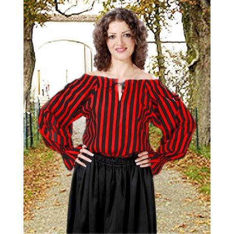 Anne Bonney Striped Pirate Blouse