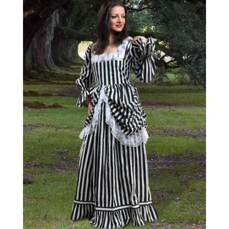 Beauty Of Stripe Renaissance Gown