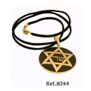 Damascene Star of David Pendant Gold