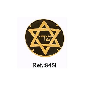 Damascene Star of David Brooch 24K Gold