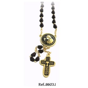 24K Gold Mary Prayer Communion Damascene Rosary