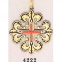 24K Gold Damascene Calatrava Cross Pendant