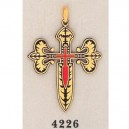 Damascene Cross of Saint James Gold