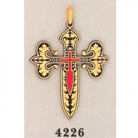 Damascene Cross of Saint James Gold