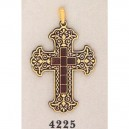 American Damascene Cross Gold
