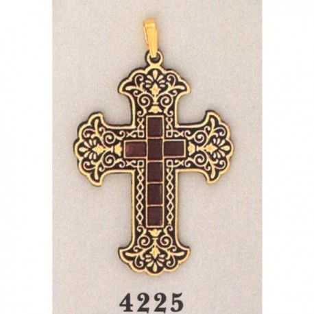 American Damascene Cross Gold
