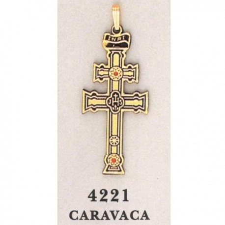 Damascene Caravaca Cross Gold