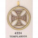 24K Gold Damascene Templar Cross