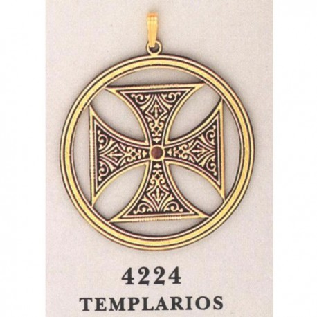 Damascene Templar Cross Gold