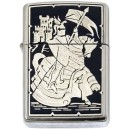 Damascene Zippo Lighter (Mounted Knight)