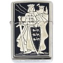 King Richard the Lionheart Damascene Zippo Lighter
