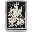 Damascene Zippo Lighter (Battle)