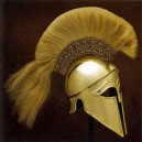 Greek Corinthian Helmet Brass