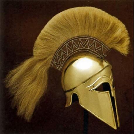 Greek Corinthian Helmet Brass