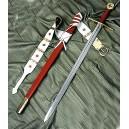 Medieval Crusader Sword-Scabbard-Belt