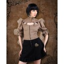 Moire Tie-Back Steampunk Blouse