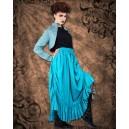 Steampunk Full Length Ruffle Skirt