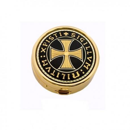 Damascene Templar Golden Pillbox